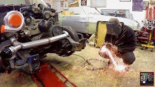 Welding on a Wastegate + Fabricating a Custom Turbo Downpipe   LS Swap S10 Update