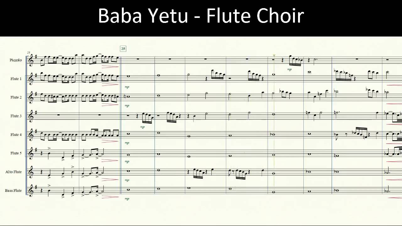 Baba Yetu Phonetic Lyrics - YouTube