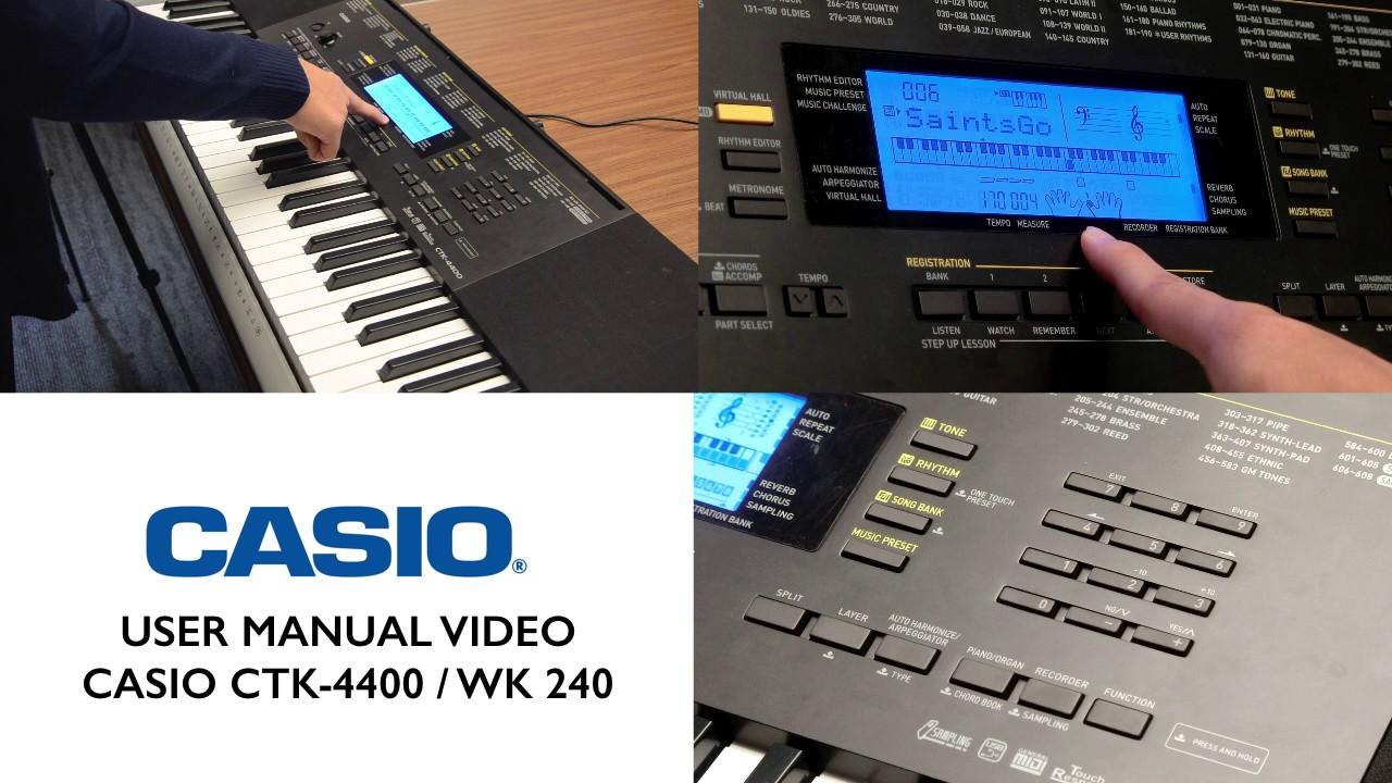 Casio ctk 4000 инструкция