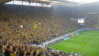 """""""Muralha Amarela"""" empolga torcedores do Borussia Dortmund"""