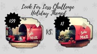 LOOK FOR LESS CHALLENGE NOVEMBER|POTTERY BARN CHRISTMAS DUPE|DOLLAR TREE DIY