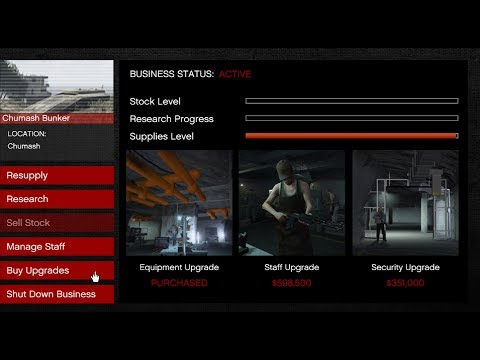 GTA 5 Gunrunning DLC (Bunker Business Setup and Upgrades)