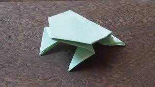 лягушка из бумаги/оригами