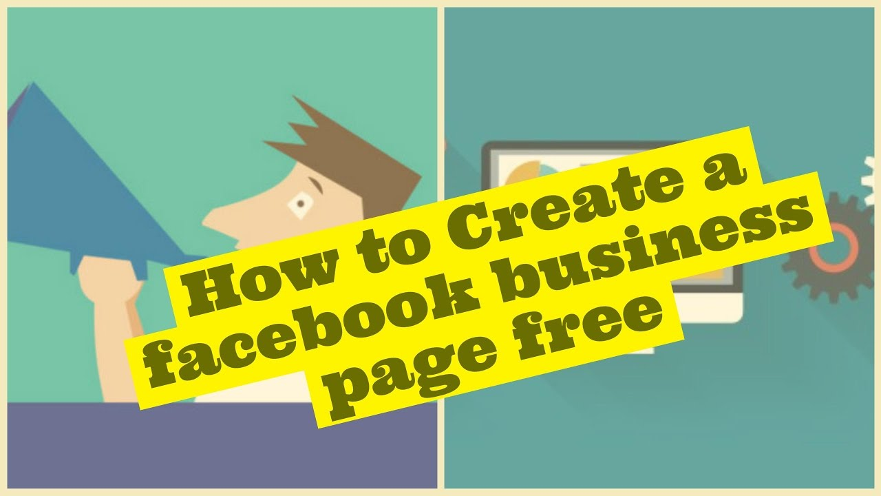 How to Create a facebook business page free - YouTube