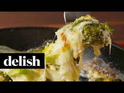 Cheesy Baked Broccoli | Delish