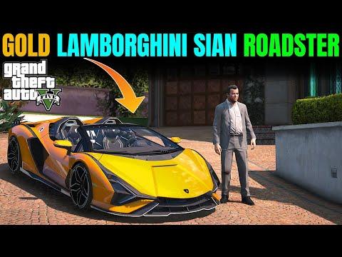 NEW GOLD PLATED LAMBORGHINI SIAN ROADSTER 2021 | GTA 5 GAMEPLAY #98
