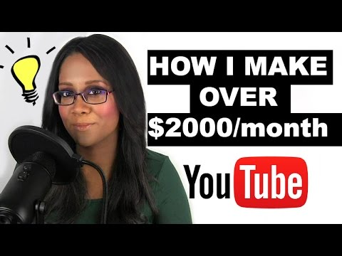 How I make over $2000 a month on YouTube ads
