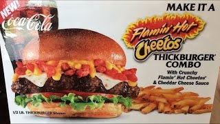 Carbs - carl's jr flamin' hot cheetos thickburger