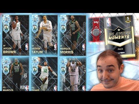 NBA 2K18 My Team SIX NEW CELTICS PLAYOFF DIAMONDS?!?! PACKS ARE JUICED!!!
