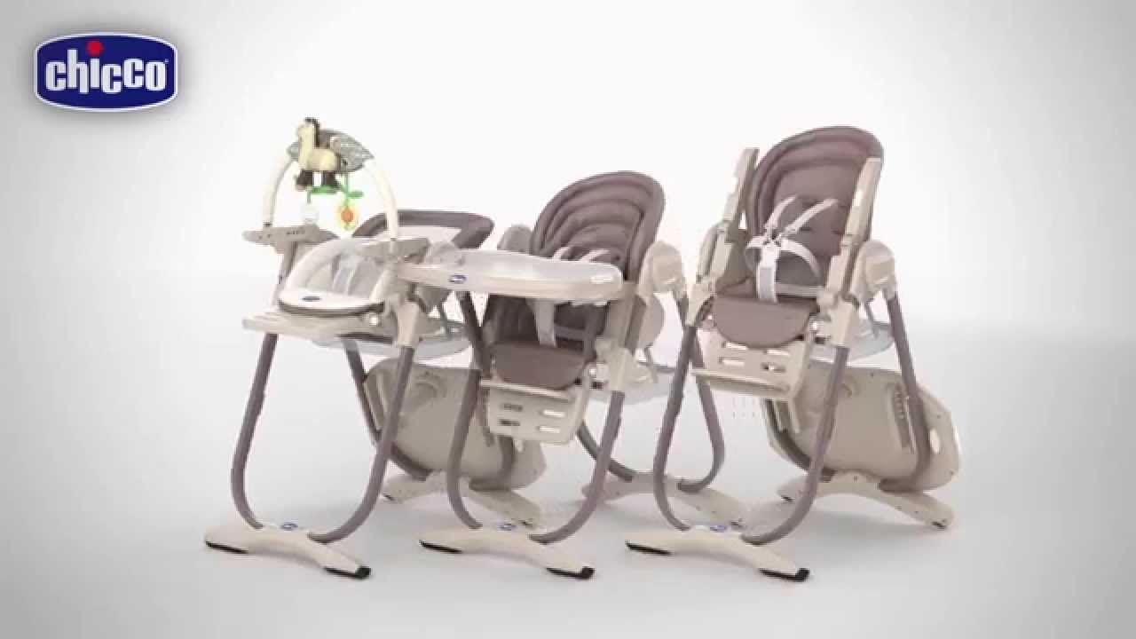 Chaise Haute Polly Magic De Chicco Youtube