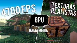GPU de GAMA MEDIA ALCANZÓ 4700 FPS en MINECRAFT! XD | GTX 1660 con Texturas y Shaders Realistas