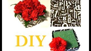 {DIY} Origami Flower Box