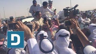 كلمة مسلم البراك بعد الخروج من #السجن_المركزي امام المحتشدين