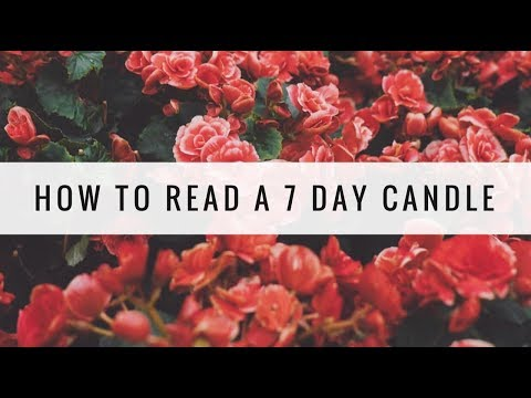 How To Read A 7 Day Candle - YouTube