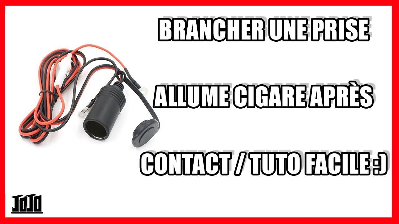 brancher une prise allume cigare apr s contact on bricole 9 youtube. Black Bedroom Furniture Sets. Home Design Ideas