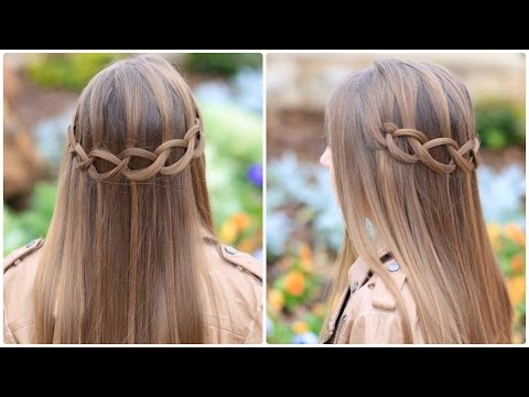 Loop Waterfall Braid Cute Hairstyles Youtube