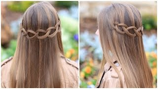 Repeat youtube video Loop Waterfall Braid | Cute Hairstyles