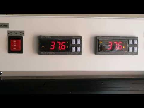 Калибровка датчика температуры в инкубаторе.