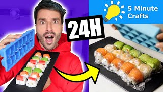 Je mange que des recettes 5 MINUTE CRAFTS pendant 24h - CARL IS COOKING