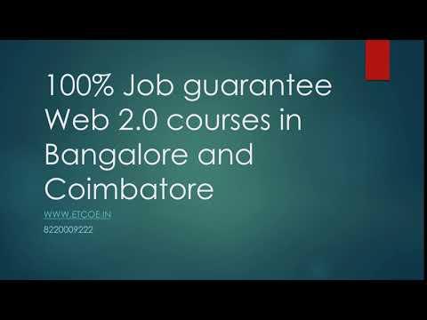 100% Job gurantee Web 2 0 courses in bangalore and Coimbatore-etcoe.in