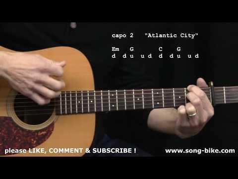 """Atlantic City"" by Bruce Springsteen : 365 Riffs For Beginning Guitar !!"