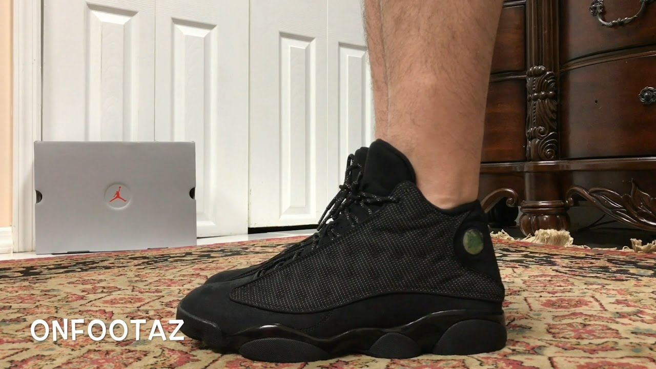 Air Jordan 13 XIII Black Cat On Foot - YouTube d065aa55c