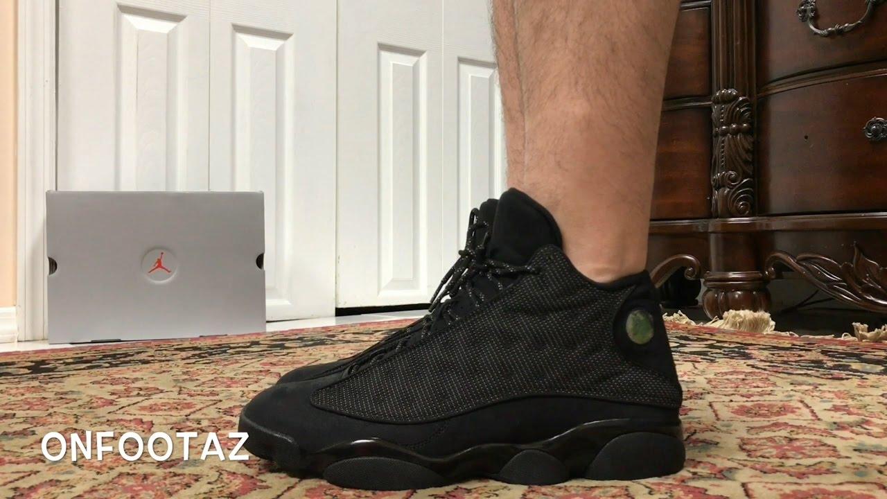 promo code air jordan 13 black cat on feet 80e13 a0632
