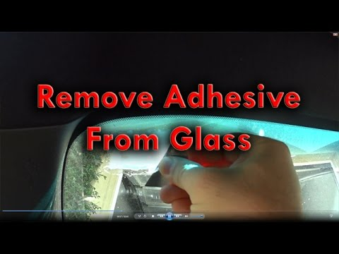 remove adhesive from glass youtube. Black Bedroom Furniture Sets. Home Design Ideas