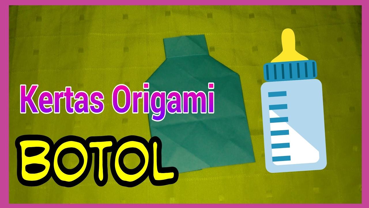 Melipat Kertas Origami Menjadi Botol Ketrampilan Tangan Origami