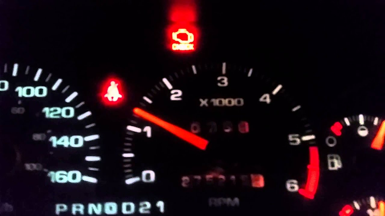 1996 chevy blazer 4x4 flashing check engine light? - YouTube