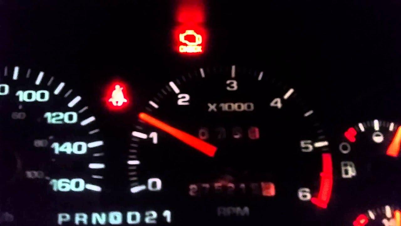 Flashing Check Engine Light