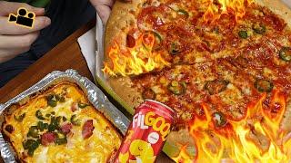 초매운 고스트페파로니 피자에 빨간맛 필굿세븐! FIRE…