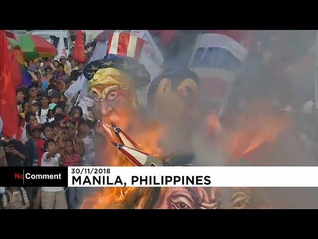 Акция протеста в Маниле