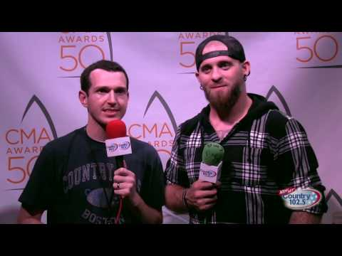 The 50th Annual CMA Awards Broadcast: Brantley Gilbert Interview