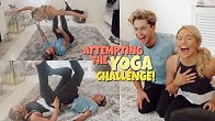 We attempted the yoga challenge .. 😂 Ft AJ Pritchard