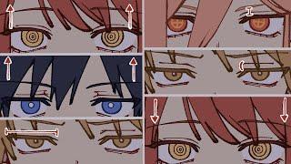 [자신만의 그림체 만들기] 눈 다양하게 그리는 법/ 눈…