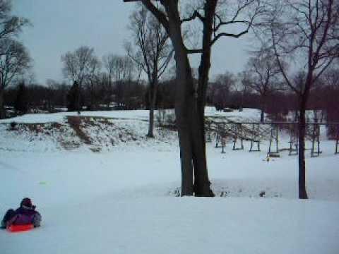 Port Washington NY, Snow covered Golf Course