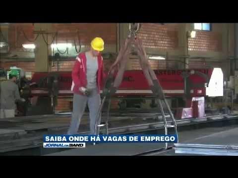 Jornal da Band grava reportagem sobre mercado de trabalho na sede da CBC Oxicorte