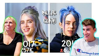 MOM REACTS TO BILLIE EILISH - (SAME INTERVIEW ONE YEAR APART!)