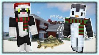 PingwinkaOlinka gra w Minecrafta? xD - Łowimy karpie na święta! // KotMas #15 (półfabularnie)