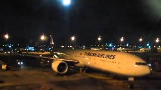 Самолет Turkish airlines - вылетаем в Гонконг