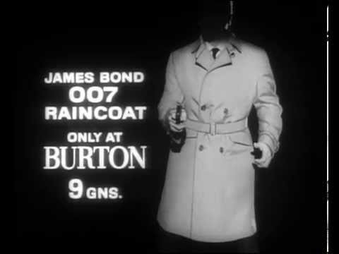 James Bond Raincoat by Burton | Vintage Commercial 1965
