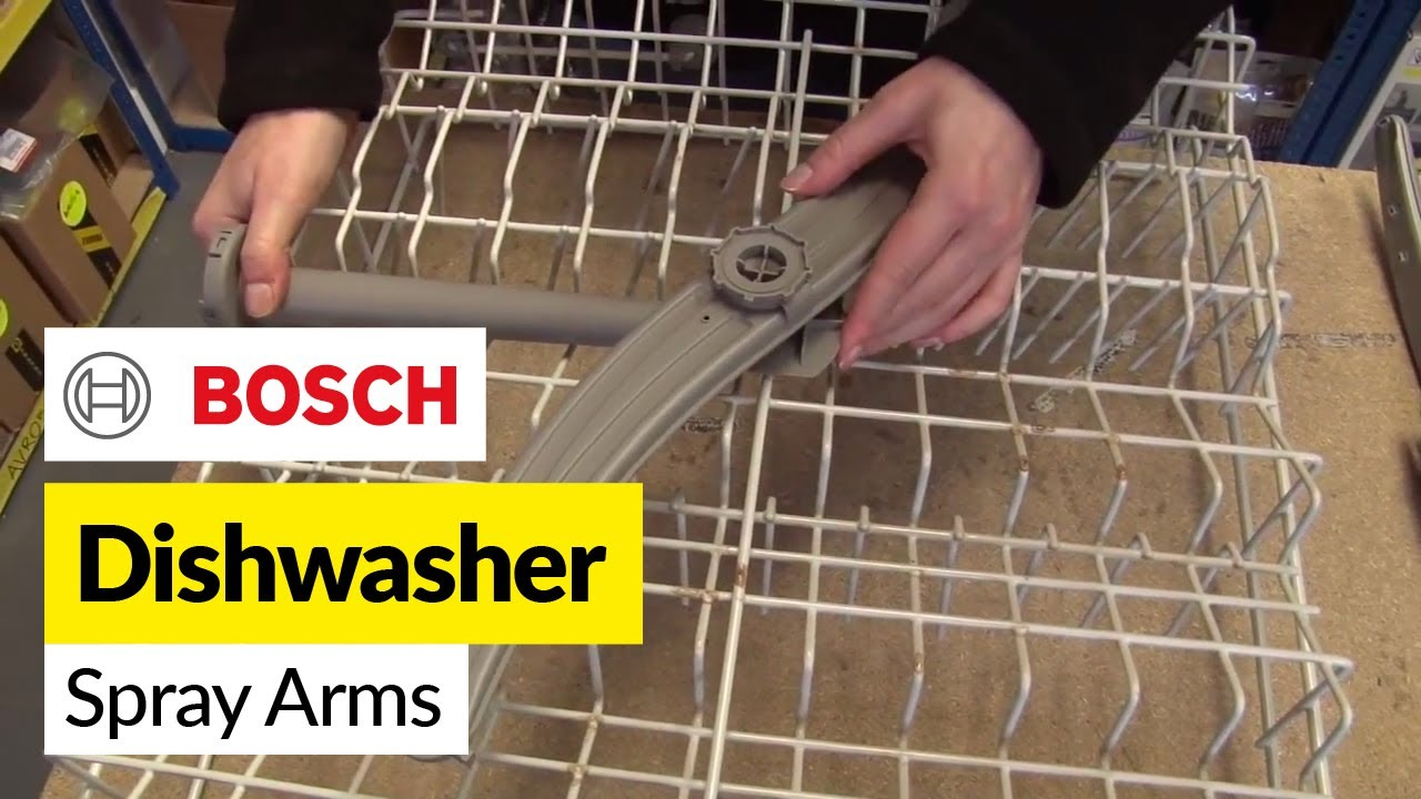 How To Replace The Dishwasher Spray Arms On A Bosch