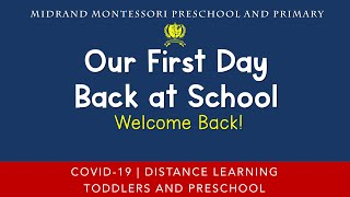 Welcome Back - Our First Day Back at School