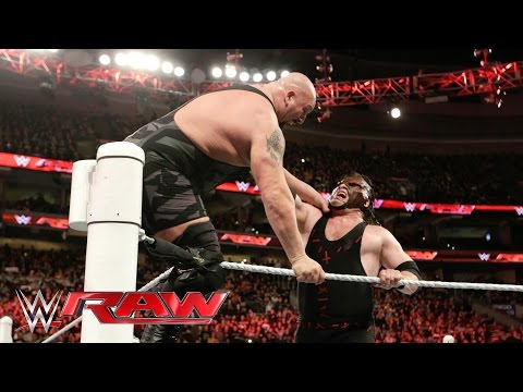 Thumbnail: Kane clears the ring and levels Big Show: Raw, March 21, 2016