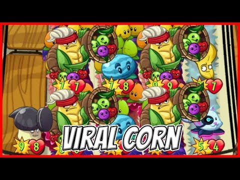 Cornucopia Goes Viral - Corn in Frenzy - Plants vs Zombies Heroes Epic MOD