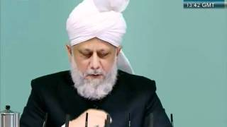Urdu Friday Sermon 4 November 2011, Blessings of Financial Sacrifice by Ahmadiyya Muslim_clip10.flv