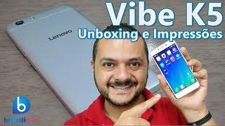 Lenovo Vibe K5 - Será que ele desbanca o Moto G e o Moto X? Unboxing e Impressões (Em Português)