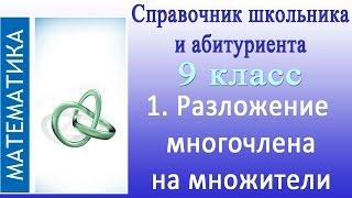 Разложение  многочлена на множители. Видеосправочник по математике  #1