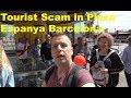 Vlog#1- Back To Barcelona! , Avoid tourist scam in Plaza Espanya. 4K